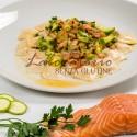 Ravioli salmone e zucchine