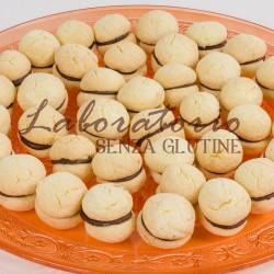 Etichetta biscotti senza glutine - Baci di dama