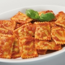 Ravioli with tomato and basil
