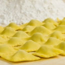 Ravioli filled with meat