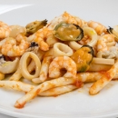 Strozzapreti with seafood